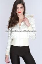 white stitch detailing rhinestone brand name jacket,cheap brand jackets coats,brand name women winter jacket