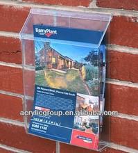 Manufacturer supplies acrylic outdoor brochure holders