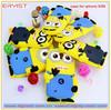 yellow color cartoon design pc+tpu case mobilephone case for phone case for iphone5/5s