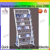 white podwer metal retail cd display racks