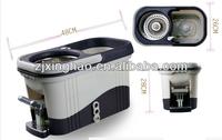 Pro 360 Dual Drying Mop Version Platinum New PP Floor Spin Mop (3rd Generation) - Gray