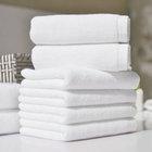 solid color 100 cotton white bath towel / face cloth / kerchief