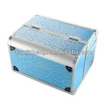 professional mini lighted aluminum make up brush case RZ-LCO049-2