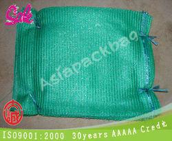 AP-R307 hot wholesale green color PE Vegetable Fruit knitting Mesh Bag Drawstring