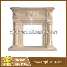 artifical stone fireplace mantel