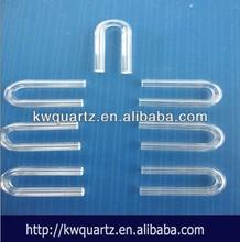 fused u sharp silica tube from kaiwang quartz manufacture