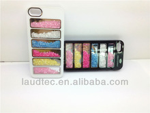 Rainbow Stripe PC Hard Case for Apple iPhone 5 5S, Beautiful Crystal Bling Hard Case Cover for iPhone 5 5G 5S