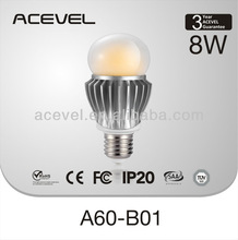 Factory 3 years warranty led bulb 5W~8W epistar chips CE&FCC&SAA