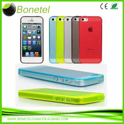Ultra Thin Transparent Cellphone TPU Case for iPhone5c