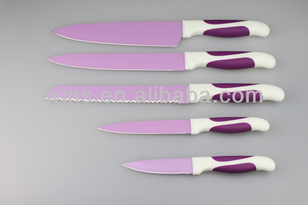 5PCS brand new and professional colorful kitchen knife set