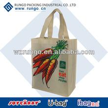 High quality silk printed non woven shopping bag