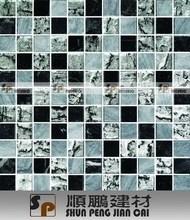 Top quality trendy glass mix stone mosaic stone sink