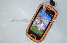"MTK 6589 Quad Core 4.3"" Android Smart Mobile Phone 3G GPS Wifi NFC optional mobile phones Waterproof Dustproof Shockproof"