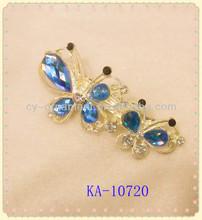 2014 Fashion diamond hair clips decorative hair clips butterfly hair clips