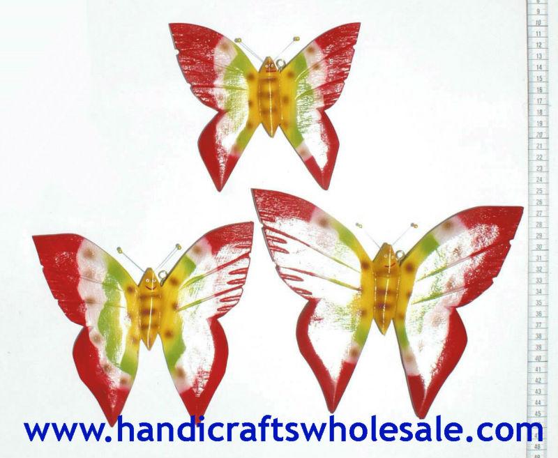 Hout met de hand gesneden vlinders beeldjes sets affortable houten kunst aan de muur - Afbeelding van huisdecoratie ...