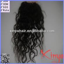 Grade AAAAA Virgin unprocessed human wavy lace closure bleached knots