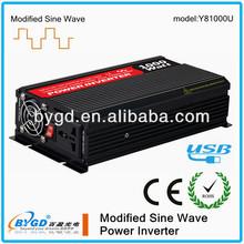 high quality!! 1000W DC-AC modified sine wave power inverter dc 12v ac 220v circuit diagram with USB output(Y81000U)