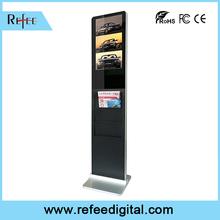open frame newspaper holder 22 inch floor standing office digital signage stand