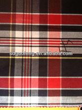 yarn dyed 100 cotton check and stripe shirt fabric 40x40 120x80 120 gsm