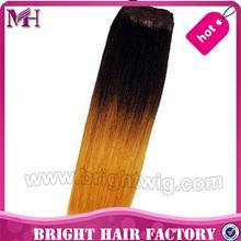 unprocessed factory price silky straight T1B/Orange Grade AAAAA high quality European human virgin hair weft weaving weaves