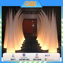 Beautiful White Decoration Led Light Inflatable Stars,Outdoor Inflatable Lighting,Inflatable Lighting Cones
