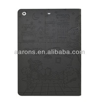 New Design For iPad Embossed Leather Case