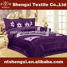 3dpattern purple bedding set thick velvet baby bedding set luxury embroidery contemporary bedroom set patchwork quilt comforter