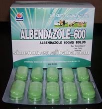 Vet Drug for Pig and Other Animal: Albendazole Bolus 600mg