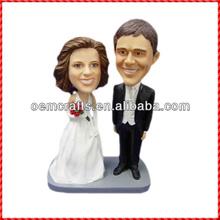 Popular resine wedding couple handmade bobble head dolls