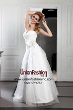 High quality silk organza wholesale flower sash a line wedding dress vestido para mae da noiva