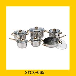 Good Quality Hot Sales Cookware Set Golden Removable Handles