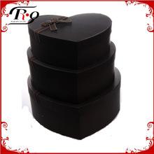 black nested heart shaped gift box