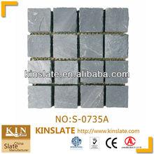 Natural Stone Tumbled Stone Mat Black Slate Similar to Xiamen Stone