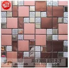 Cheap branded floor metal mosaic decoration