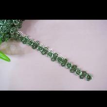 Beautiful Rose Shape Rhinestone Metal Chain Trim For Garment Accessory DH-RE1149