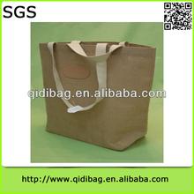 Hot-sale branded ladies shopping jute tote bag