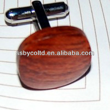 Rosewood Cufflinks FSC Wooden Decorations For Bussiness Gift