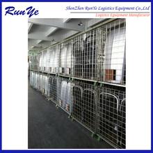 Cargo metal folding steel storage cage supplier
