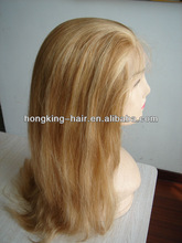 100% hand knoit high quality no tangle no shedding human hair full lace wig