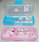 Custom kids pencil case/mini plastic pencil box/cheap plastic pencil case KT02