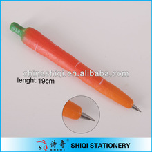 lifelike red carrot ball pen with magnet