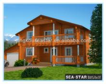 wooden mountain farm house