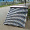 Copper heat pipe evacuated glass solar collector flat roof