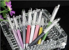 Deluxe Metal Crystal Pen with or without box cystal,touch pen,stylus pen