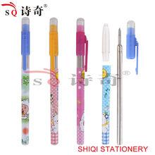 New arrival plastic cartoon erasable pen
