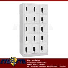5 layer white metal school lockers multi-door classroom cabinet / KD 5-tier 15 doors white metal ski locker