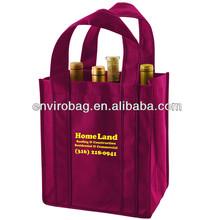 100% Recycled Fabric 6 Bottles liquor bottle wine bag