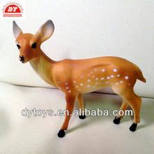 Adorable plastic deer animal figurines