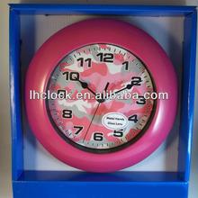 Kids Military Pink Camo Wall Clock