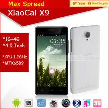 Hottest!! Xiaocai X9 android phone quad core 5 inch mtk6582 1.3GHz 1gb ram 4gb rom dual camear dual sim smart phone
